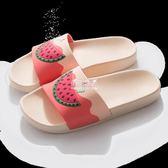 現貨出清拖鞋室內浴室洗澡防滑厚底可愛家居涼拖鞋女 9-17