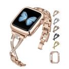 Jfdragon 金屬錶帶 適用 Apple Watch 42/44mm 系列 黑/金/銀/銅/玫瑰金 Bling Diamond [9美國直購]