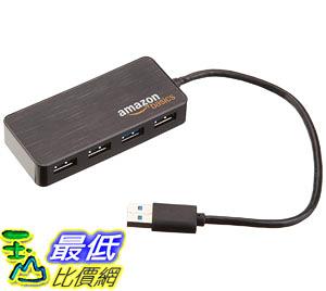 [10入裝] 集線器 AmazonBasics 4 Port USB 3.0 Hub with 5V/2.5A power adapter