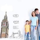 【收藏天地】創意生活*英國倫敦大笨鐘壁貼/ 家飾 居家 裝飾 佈置 環保