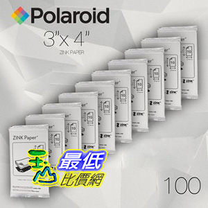[美國直購 100 張] Polaroid ZINK Media 3 x 4 inch Photo Paper for Polaroid Z340 printer   ZINK paper $3477