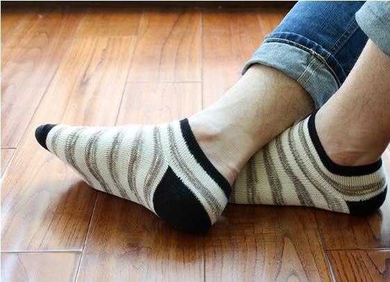 [協貿國際]春夏天男士寬條短襪全棉低筒襪子