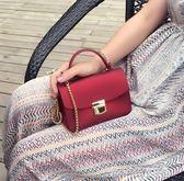 手提包包 女包新款迷你磨砂啞光果凍包手提包錬條包單肩斜背包小包包潮 玩趣3C