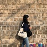 帆布包 韓國原宿純色帆布包女文藝學生百搭書包日系少女帆布袋布 寶貝計畫 618狂歡