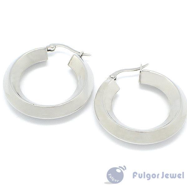 316西德鋼 鋼飾 流行飾品 316 西德鋼 空心菱形線條耳環 耳針卡扣式【Fulgor Jewel】