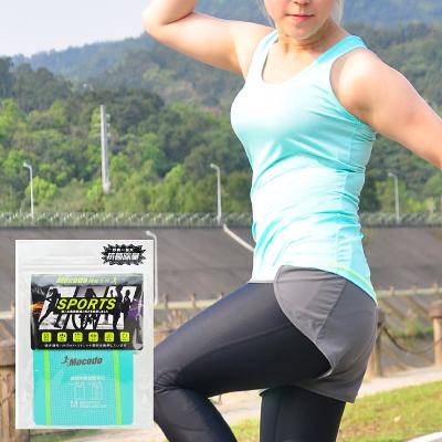 吸排拼接運動背心 湖綠 M|運動背心 慢跑 健身 透氣排汗速乾背心 挖背背心【mocodo 魔法豆】