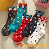 襪子女中筒襪秋冬可愛日系圣誕襪卡通長筒棉襪【小獅子】
