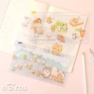 捲捲麵包貓萬用夾鏈收納袋 48K- Norns 正版授權 文具筆袋 口罩收納夾鏈袋
