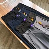 窄管褲 日本四面彈科技機能面料!男裝BF寬鬆窄腿INS潮流休閒褲 MK5698快速出貨
