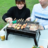 木碳燒烤架小型戶外迷你家用燒烤爐野外可折疊便攜3-5人全套