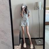 輕奢女裝季可鹽可甜法式設計感小眾運動風連帽溫柔風洋裝子女 【年貨大集Sale】