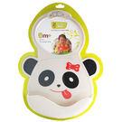 Creative Baby 創寶貝 可收納式攜帶防水無毒矽膠學習圍兜-可愛熊貓[衛立兒生活館]