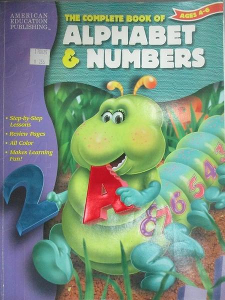 【書寶二手書T5/少年童書_WGR】The Complete Book of Alphabet & Number