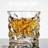 水晶玻璃威士忌杯洋酒杯啤酒杯白酒烈酒雞尾酒方形家用水杯子套裝