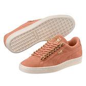Puma Suede 女 玫瑰金 粉 滑板鞋 板鞋 Classic X Chain 經典款 休閒鞋 搖滾 皮革 36735201