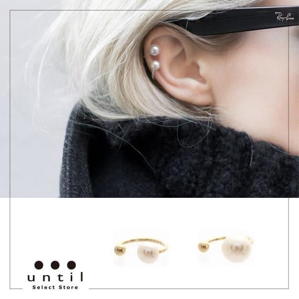 不安份的珍珠~極美耳骨夾604911/2色