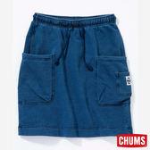 CHUMS 日本 女 口袋造型裙 Indigo丹寧藍 CH181071N030