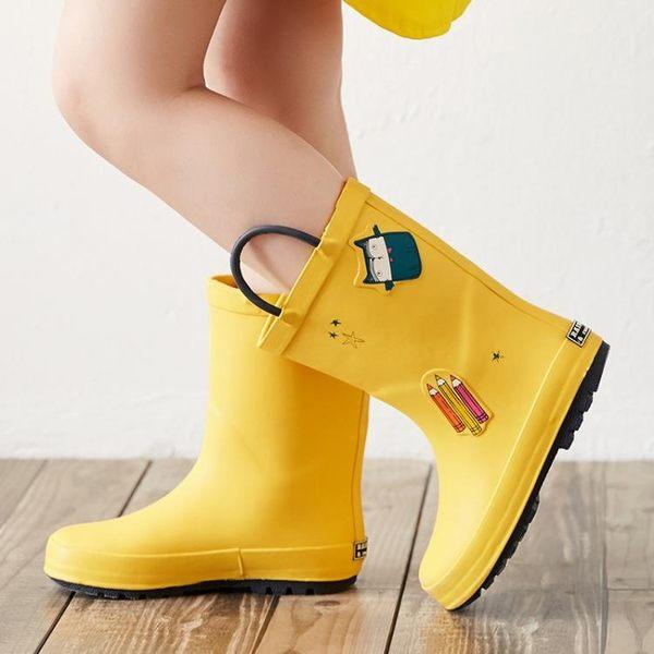 鉛筆兒童雨鞋男童女童寶寶小童雨靴小孩嬰幼兒水鞋輕便防滑膠鞋