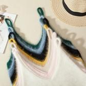 2020秋冬裝新款韓版個性寬鬆外搭毛毛針織吊帶無袖馬甲毛衣背心女 【降價兩天】