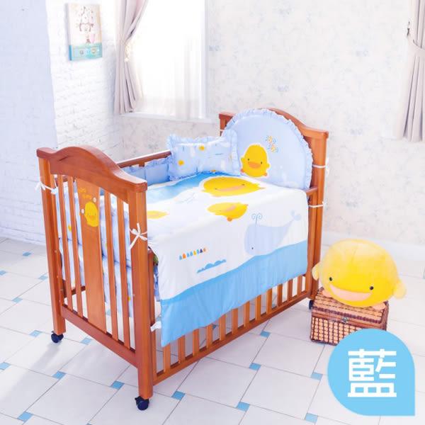 【愛吾兒】黃色小鴨 PiYo 彩繪海洋七件組-藍/黃
