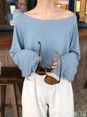 長袖T 恤初秋  心機冰絲長袖t 恤女寬鬆薄款防曬罩衫上衣ins 聖誕