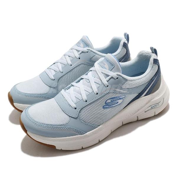 Skechers 健走鞋 Arch Fit Gentle Stride 女鞋 藍 足科醫師推薦 運動鞋 【ACS】 149413LTBL