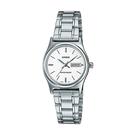CASIO 卡西歐 手錶專賣店 LTP-V006D-7B2 女錶 指針錶 不鏽鋼帶 白 日/星期 防水