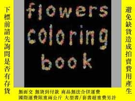 二手書博民逛書店flowers罕見coloring bookY405706 Edge Design 出版2020