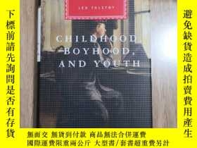二手書博民逛書店Childhood,Boyhood罕見and Youth 童年,少年和青年 Leo Tolstoy 列夫·托爾斯泰
