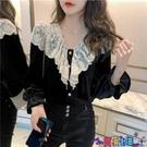 法式上衣 2021秋冬新款金絲絨打底衫女長袖設計感小眾襯衫法式復古洋氣上衣 618狂歡
