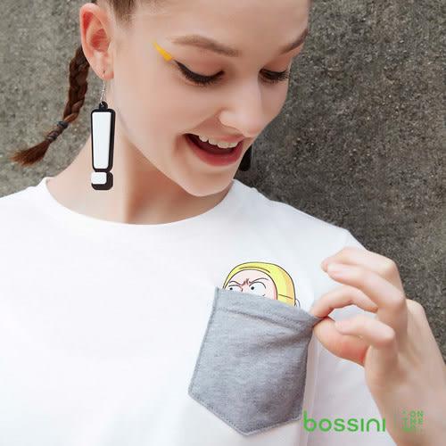 bossini女裝-囂搞聯名口袋T白
