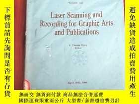 二手書博民逛書店laser罕見scanning and recording for graphic arts and public