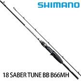 漁拓釣具 SHIMANO 18 SABER TUNE BB B66MH [船釣鐡板竿]