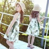 女童夏裝2018新款韓版洋氣棉綢連身裙大童兒童小女孩夏季公主裙子   初見居家