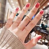 戒指超細疊戴戒指套裝女ins潮簡約關節尾戒小指食指組合指環時尚個性【全館免運八折】