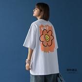 短袖T恤女寬松韓版五分夏季鹽系半袖設計感小眾【聚物優品】