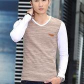 長袖上衣加絨打底-高整體質感簡約流暢男T恤4色72ad15【巴黎精品】