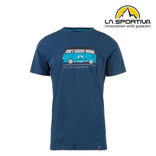 【義大利 LA SPORTIVA】Van T-Shirt 透氣短袖上衣 男款 藍色 #H47618618