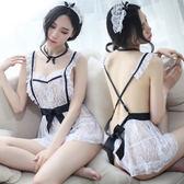 情趣內衣服夜店激情制服女仆性感透視小胸露乳三點式開檔套裝SM騷