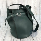 BRAND楓月 CELINE 183343 深綠 BUCKET BAG SMALL 皮質 皮革 肩背包 側背包 水桶包