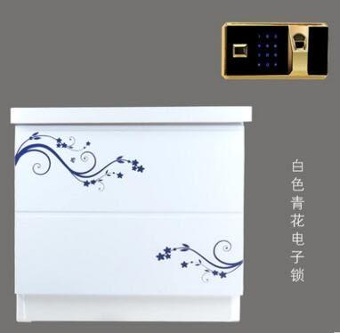 虎牌保險櫃指紋保險箱家用電子保管箱辦公床頭櫃可入牆 51cm特價2(主圖款 指紋鎖)