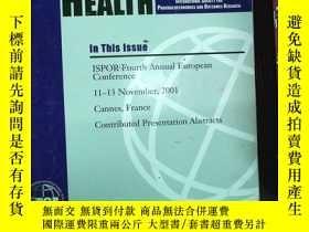 二手書博民逛書店外文書罕見UALUE HEALTH 2001 6.4Y23969