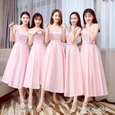 洋裝禮服 伴娘服韓版姐妹團伴娘服伴娘禮服短款姐妹裙畢業禮服裙女 傾城小鋪