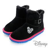 Disney 奇幻天堂~豹紋米奇金屬釦環雪靴-黑(女)