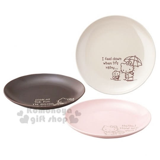 Hello Kitty 日製陶瓷食器盤組 3入