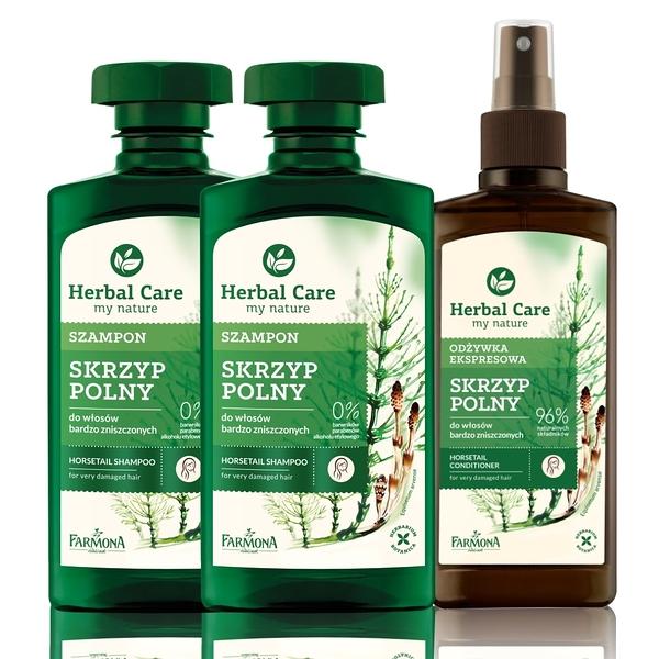 Herbal care 波蘭植萃 - 馬尾草順髮滋養洗護(3入組)
