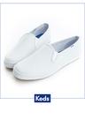 Keds 經典 升級皮質小白鞋 休閒便鞋 - 白x真皮110018