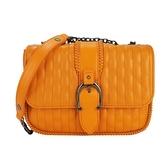 【南紡購物中心】LONGCHAMP AMAZONE 系列鍊帶荷蓬斜背包(迷你/橙)