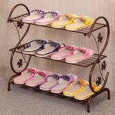 黑五好物節 鞋架簡易家用多層簡約現代經濟型鐵藝宿舍拖鞋架子收納小鞋架鞋柜【一條街】