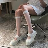 IN MIMIFACE白色小腿襪子女長筒襪ins潮夏季薄款日繫中筒透明襪jk 韓國時尚週 免運
